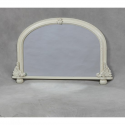 Antique Cream Small Traditional Overmantle Mirror
