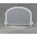 White Small Traditional Overmantle Mirror