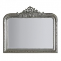 Silver Overmantle Mirror with Crest