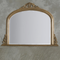 Classic Gold Wooden Overmantle Mirror
