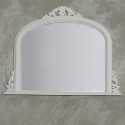 Classic White Wooden Overmantle Mirror