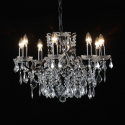 8 Branch Black Shallow Chandelier