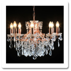 6 Branch Shallow Gold Chandelier