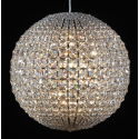 Chrome Framed Fine Crystal Large Ball Chandelier