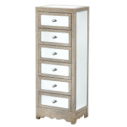 Mirror Moc Croc Chest of Drawers Tall Boy