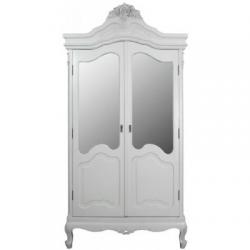 St Etienne Cream Double Mirrored Wardrobe