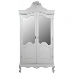 St Etienne Cream Double Mirrored Wardrobe