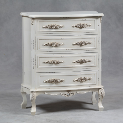Antiqued Cream St. Etienne Large Chest Of Drawers