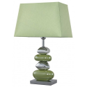 Green and Chrome Pebble Lamp