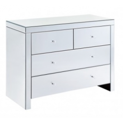 Classic Mirror 4 drawer chest of Drawers
