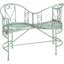 Duck egg blue iron garden summer love seat