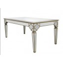 Morocco Mirror and Gold Trim Dining Table