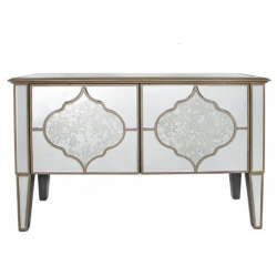 Morocco 2 Door Mirrored Sideboard Cabinet