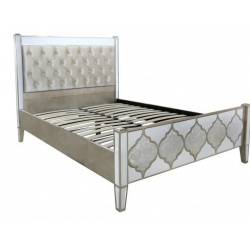 Morocco Mirror King Size Bed Frame