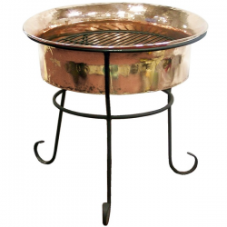 Hammered Copper Outdoor Fire Pit