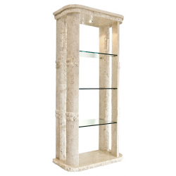 Mactan Stone Rockedge Etagere Shelf Unit with Light