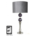 Purple Pearl Table Lamp With Grey Faux Snakeskin Shade