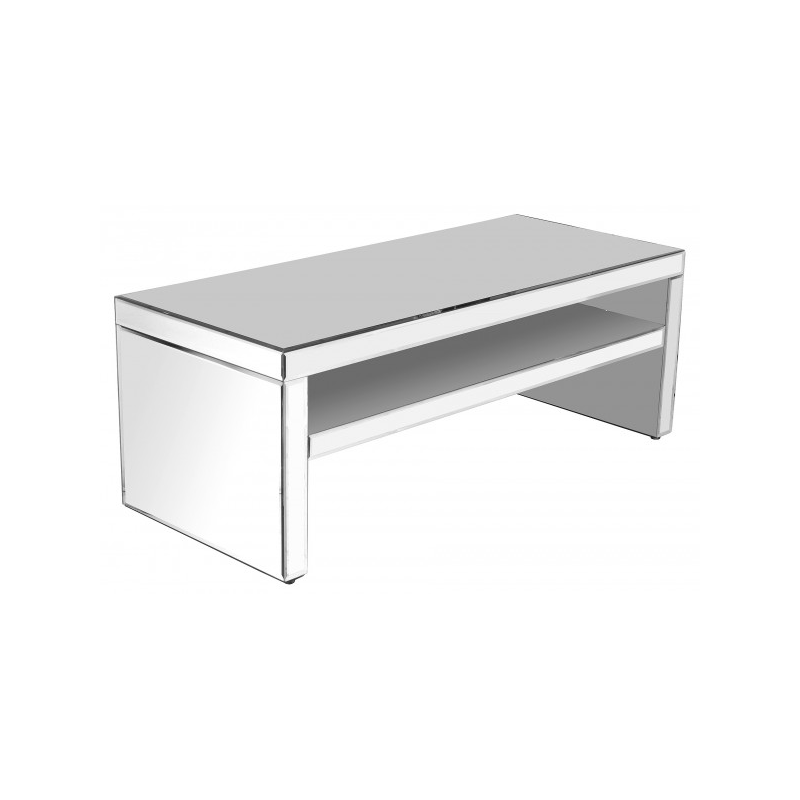 Coffee Table And Entertainment Unit Set: Full-mirrored-entertainment-unit-coffee-table
