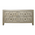Gold Geo 4 Drawer Chest Of Drawer / Sideboard