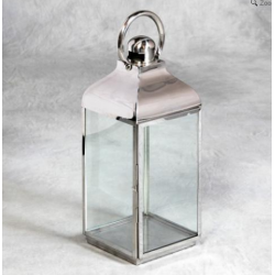 Medium Square Polisged Steel Lantern