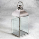 Medium Square Polished Steel Lantern