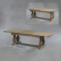 Large Reclaimed Elm Extending Dining Table