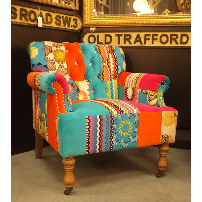 Large Patchwork Armchair; Large Patchwork Armchair