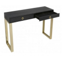 Black 2 Drawer Faux Snakeskin Console Table