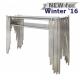 Lorenzo Metal & Glass Console Table Polished Steel
