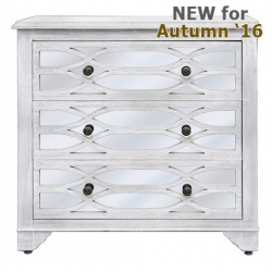 Verona Washed Ash 3 Drawer Cabinet