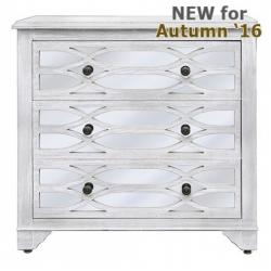 Verona Washed Ash 3 Drawer Cabinet