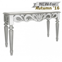 Cortina Mirror Console Table Silver Trim