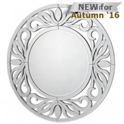 Cortina Wall Mirror With Silver Trim (118cm)