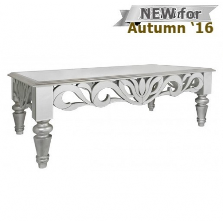 Cortina Mirror Coffee Table Witth Silver Trim