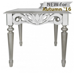 Cortina Mirror End Table Witth Silver Trim