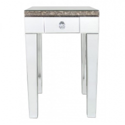 Savoy Antique Mirror End Table