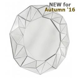 Glacier 100cm Wall Mirror Silver Trim