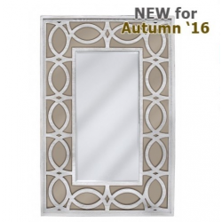 Anton Washed Ash And Champagne Wall Mirror