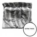 Artic Wolf Faux Fur Grey Throw 145x200cm