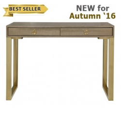 Gold 2 Drawer Faux Lizard Console Table