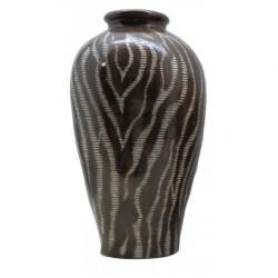 Brown Zebra Urn Vase