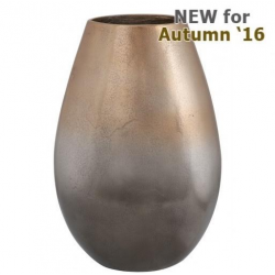 Large Graduated Gold Tapered Vase (32cm)