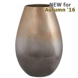 Large Graduated Gold Tapered Vase (32cm)