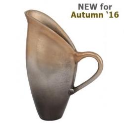 Graduated Gold Jug Vase with Handle (31cm)