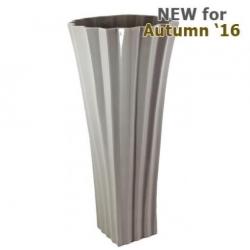 Large Shiny Taupe Kimona Vase (60m)