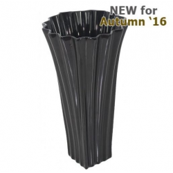 Shiny Black Kimona Vase (35m)