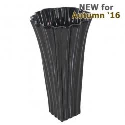 Shiny Black Kimona Vase (35m)