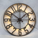 Large Industrial Backlit Wall Clock