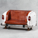 Upcycled Back End Classic Car Leather Sofa