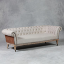 Linen and Leather Hudson Sofa
